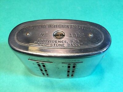 Antique Providence RI Institution For Savings AUTOMATIC RECORDING SAFE BANK