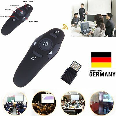 Wireless PPT Presenter USB Klicker Präsentation Laserpointer Fernbedienung Pen
