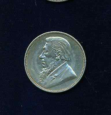 South Africa  1895  1 Shilling Silver Coin  Xf+