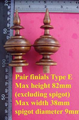 da type E - bespoke listing for 5 off stained wood vienna  wall clock FINIALS