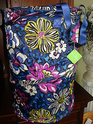 Vera Bradley African Violet Pop Up Laundry Bag Hamper NWT/NIP NEW w Tags