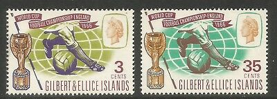 Gilbert & Ellice Is 1966 World Cup Soccer--Attractive Topical (125-26) MNH
