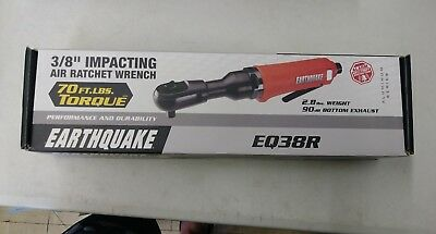 NEW CENTRAL PNEUMATIC EARTHQUAKE EQ38R 3/8in. Impacting Air Ratchet Wrench
