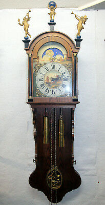 Old Big Wall Clock Friesen Dutch Clock 8 Day Big Clock 148cm.with Moonphase