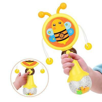 Baby Cartoon Children's Educational Toys Drum-shaped Sound Light Rattle Toys