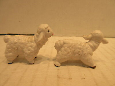 2 Plastic Sheep Toy Figures Farm Animals Made In Italy