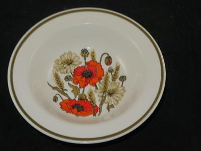 RETRO Replacement China J&G Meakin STUDIO WARE Cereal Bowl POPPY UNUSED 1970s