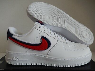 5d9e03fc623 NIKE AIR FORCE 1 07 Lv8 White-University Red-Blue Void Sz 10 [823511 ...