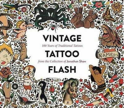NEW Vintage Tattoo Flash By Jonathan Shaw Hardcover Free Shipping