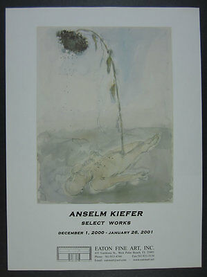 2000 Anselm Kiefer painting Select Works exhibition vintage print Ad