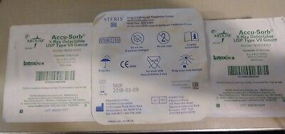 """Lot Of Steris Lb53 Lighthandle Cover & Two Medline Accu-Sorb Gauze 8""""x4"""" 12Ply"""