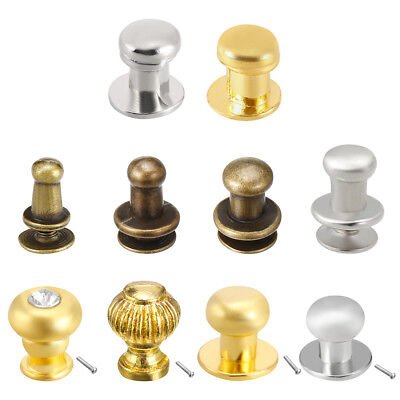 Zinc Alloy Electroplating Gift Jewelry Box Single Hole Round Knobs Pull Handles