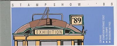 Booklet -  1989 TRAMS Stampshow '89