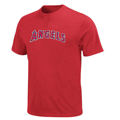 LA Angels 2 Button Officially Licenced MLB T shirt