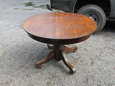 "Vintage Round  Oak Table- 42"" With Solid Oak Top"