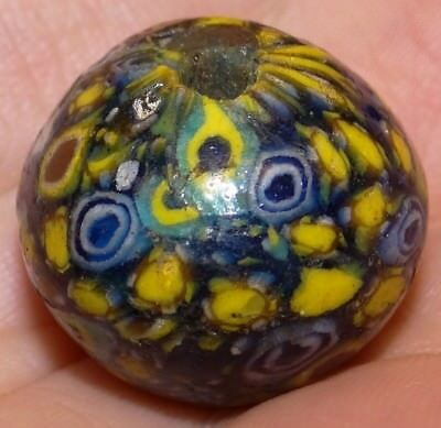 24mm Ancient Roman Mosaic Glass Bead, 1800+Years Old, #MC73