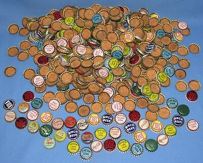 Huge Lot Of Cork Back Bottle Caps--Coke+ Pepsi+ Imitation+ Birch Beer+ Patio