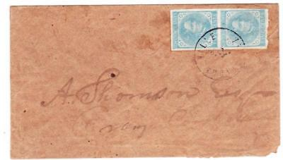 Confederate States of America Sc#7-FOUR MARGINS(pair)-GORDONSVILLE(Orange