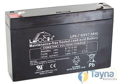 Leoch LP6-7.0 6V 7Ah Sealed Batterie
