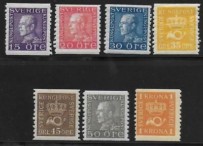 Sweden stamps 1920 Collection of 7 stamps MLH VF CAT VALUE $210