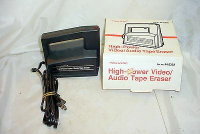Realistic 44-233A High Power Video Audio Tape Eraser - works