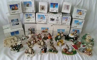 Lot of 19 Fitz & Floyd Charming Tails Collectibles Most In Boxes!