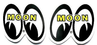 """Mooneyes 6"""" TALL ! Decals Hot Rat Rod Car Stickers Drag Race + Clay Smith decal"""