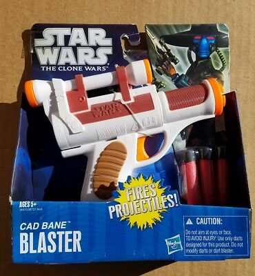 Star Wars The Clone Wars CAD BANE BLASTER NERF Gun Hasbro 2010 New in Box Unused