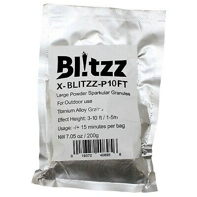 ProX Blitzz 3 -10 Foot High Cold Spark Granules for Blitzz Pyro Effect Machine