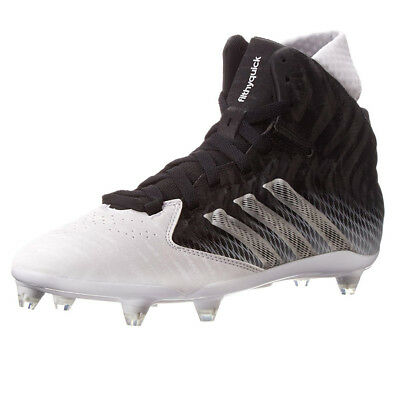 wholesale dealer 5430f 69ab2 New Mens Adidas Filthyquick Mid D Football Cleats Black  White Size 8 M