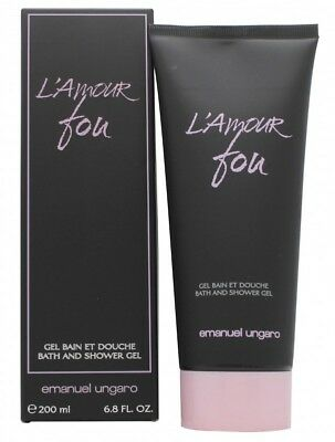 Emanuel Ungaro L'amour Fou Shower Gel - Women's For Her. New. Free Shipping
