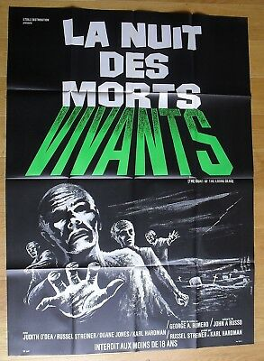 NIGHT OF THE LIVING DEAD horror george romero original french movie poster R