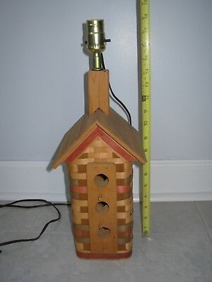 BIRD HOUSE Combination Light /Lamp by Patio Basket Weave from Dresden, Ohio~NICE
