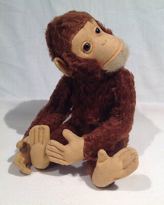 """SCHUCO """"TRICKY"""" MECHANICAL YES NO MONKEY, 13"""" LONG, GERMAN, 1950's or earlier"""