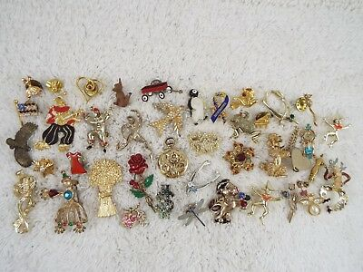 40 pcs Figural Pin Lot (C8)