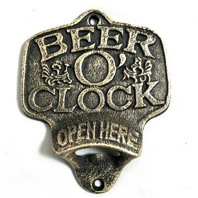 Beer O'Clock Wall Mount Painted Bottle Opener CI31-A-BOC