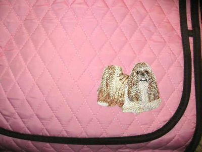 Large Microfiber SHIH TZU Dog Breed Quilted Fabric Purse Messenger Shoulder Bag