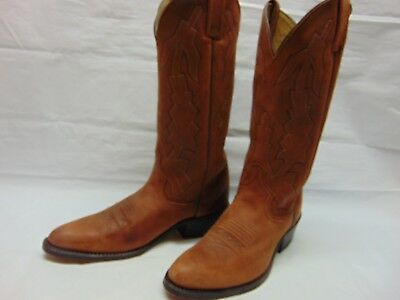 859bdca8ece Dan Post Womens 9 B Brown Leather Pull On Cowgirl Ride Dance Rodeo Western  Boots