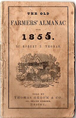 1855 Old Farmer's Almanac