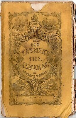 1863 Old Farmer's Almanac