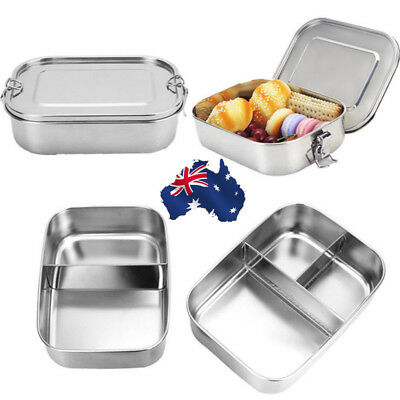 AU Single Stainless Steel Thermal Insulated Picnic Lunch Box Bento Food Containe
