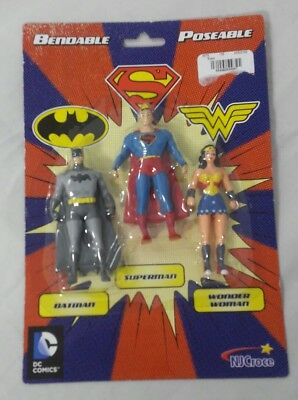 DC Comics Mini 3-Pack of Figures Batman, Superman, Wonder Woman