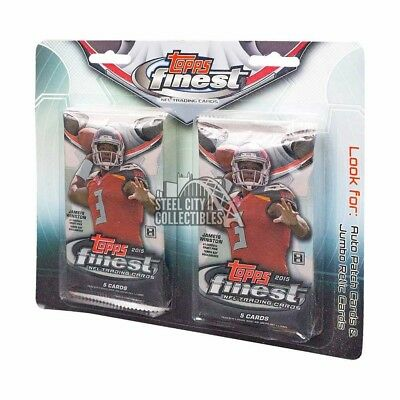 2015 Topps Finest Football 2-Pack Blister Hanger Hobby Pack