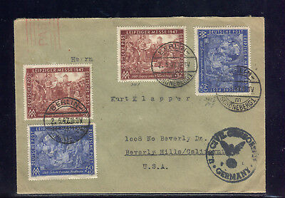 All. Bes: MiNr. 941/942 SATZBRIEF mit PF 942 I; ab BERLIN 1947 mit ZENSUR to USA