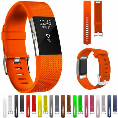 For FitBit Charge 2 Strap Replacement Band Sports Silicone Gel Wristband