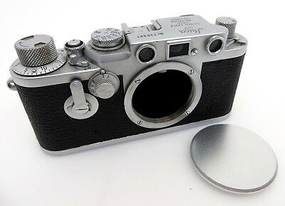 Leitz Leica IIIf Viewfinder camera BODY RF red Dial M39 Nr 720961 je018