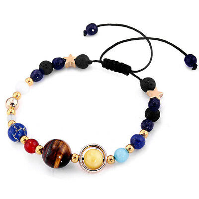 Universe Solar System Planets Beads Bracelet Space Universe Stars Charm Bangle