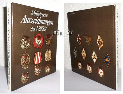 DDR Buch Medaillen Orden Ausz. UdSSR CCCP Rote Armee Book about Medals USSR