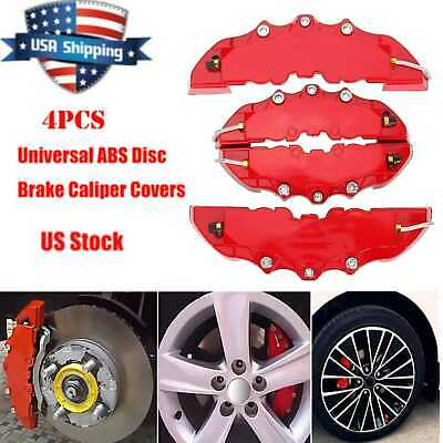 3D 2 Pairs Style Car Universal Disc Brake Caliper Covers Parts Front /& Rear