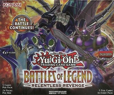 Battles of Legend - Relentless Revenge Secret Rare Yu-Gi-Oh Card Factory Damaged